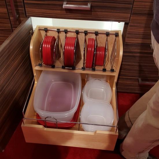 Rev-A-Shelf's TupperWare Storage