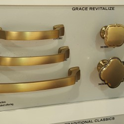 amerock satin brass knobs