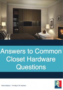 Answers to Common Closet Hardware Questions